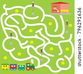 board game  railway  maze ... | Shutterstock .eps vector #796291636