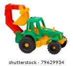 The Toy Tractor Isolated On A...