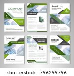 green and black presentation... | Shutterstock .eps vector #796299796