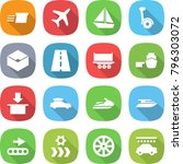 flat vector icon set   delivery ... | Shutterstock .eps vector #796303072