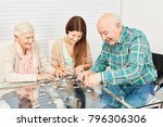 family with seniors and... | Shutterstock . vector #796306306