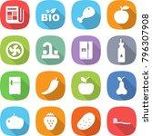 flat vector icon set  ... | Shutterstock .eps vector #796307908