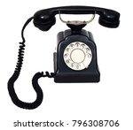 old style black telephone | Shutterstock . vector #796308706