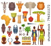 african culture vector... | Shutterstock .eps vector #796311172
