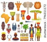 african culture vector... | Shutterstock .eps vector #796311172