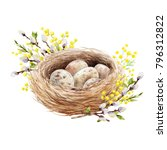 easter spring watercolor... | Shutterstock . vector #796312822