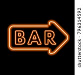 vintage neon sign with the word ... | Shutterstock .eps vector #796314592
