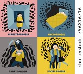 human fears concept icons set... | Shutterstock .eps vector #796316716