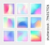 vibrant gradient banner pack of ... | Shutterstock .eps vector #796317526