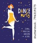 vector dance party posters.... | Shutterstock .eps vector #796319275