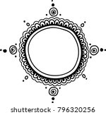 abstract mandala frame. vector...