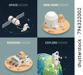 space research exploration... | Shutterstock .eps vector #796322002