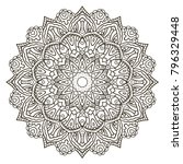 mandala. ethnic decorative... | Shutterstock .eps vector #796329448