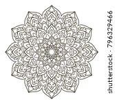 mandala. ethnic decorative... | Shutterstock .eps vector #796329466