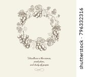abstract berry wreath vintage... | Shutterstock .eps vector #796332316