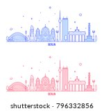 berlin skyline  germany. this... | Shutterstock .eps vector #796332856