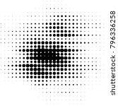 abstract grunge grid polka dot... | Shutterstock .eps vector #796336258