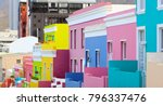 colorful bright buildings in... | Shutterstock . vector #796337476
