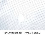 mesh netting with hole on sky... | Shutterstock . vector #796341562