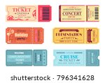 tickets and admissions set ... | Shutterstock .eps vector #796341628