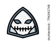 horror emoji   skull | Shutterstock .eps vector #796341748