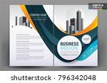 business brochure background... | Shutterstock .eps vector #796342048