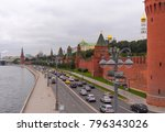 sunny summer day moscow river... | Shutterstock . vector #796343026