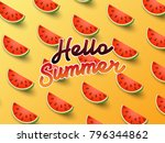 hello summer on the background... | Shutterstock .eps vector #796344862
