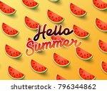 hello summer on the background... | Shutterstock .eps vector #796344862