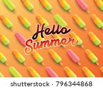 hello summer on the background... | Shutterstock .eps vector #796344868