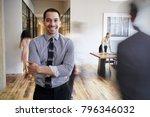 portrait of young hispanic man... | Shutterstock . vector #796346032