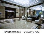 luxury lobby interior.   Shutterstock . vector #796349722