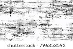 distressed black and white... | Shutterstock .eps vector #796353592