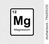 magnesium chemical element.... | Shutterstock .eps vector #796355152