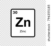 zinc chemical element. sign... | Shutterstock .eps vector #796355185