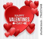 happy valentines day background ... | Shutterstock .eps vector #796357648