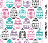 seamless pattern consisting of... | Shutterstock .eps vector #796362736