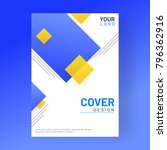 design annual report  cover ... | Shutterstock .eps vector #796362916