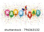 german text karneval  translate ... | Shutterstock .eps vector #796363132