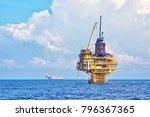 petroleum production platform... | Shutterstock . vector #796367365