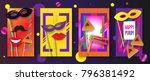 purim celebration concept... | Shutterstock .eps vector #796381492