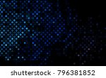 dark blue vector  background... | Shutterstock .eps vector #796381852