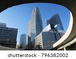 blue sky and building in tokyo... | Shutterstock . vector #796382002
