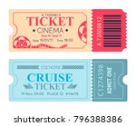 cinema ticket cruise coupon set ... | Shutterstock .eps vector #796388386