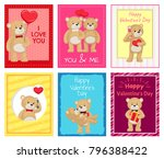 i love you and me teddy bears... | Shutterstock .eps vector #796388422