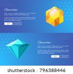shiny faceted gemstones of... | Shutterstock .eps vector #796388446