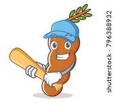 playing baseball tamarind... | Shutterstock .eps vector #796388932