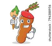 artist tamarind character...   Shutterstock .eps vector #796388956