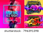 vector set of faceted modern...   Shutterstock .eps vector #796391398