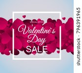 valentines day sale  discont... | Shutterstock .eps vector #796391965
